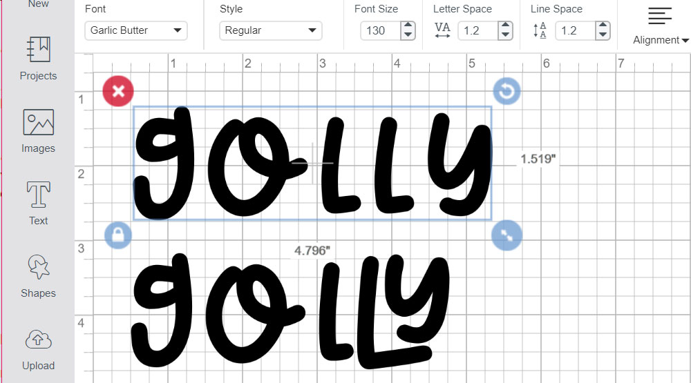 Program Comparison: Cricut pasting ligatures
