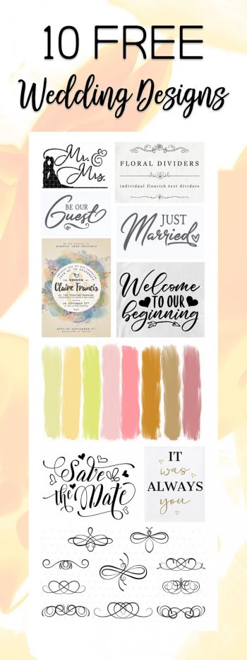 10 Free Wedding designs for Cricut and Silhouette