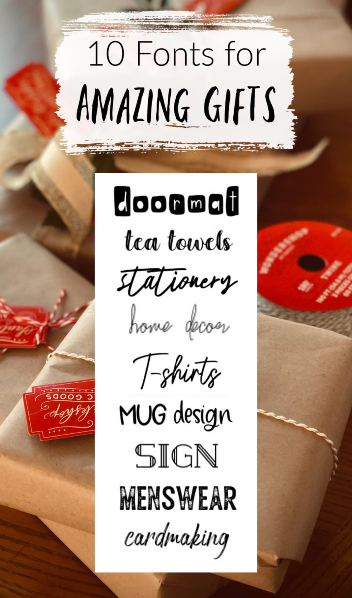 10 fonts for Amazing gifts, fonts for crafting gifts