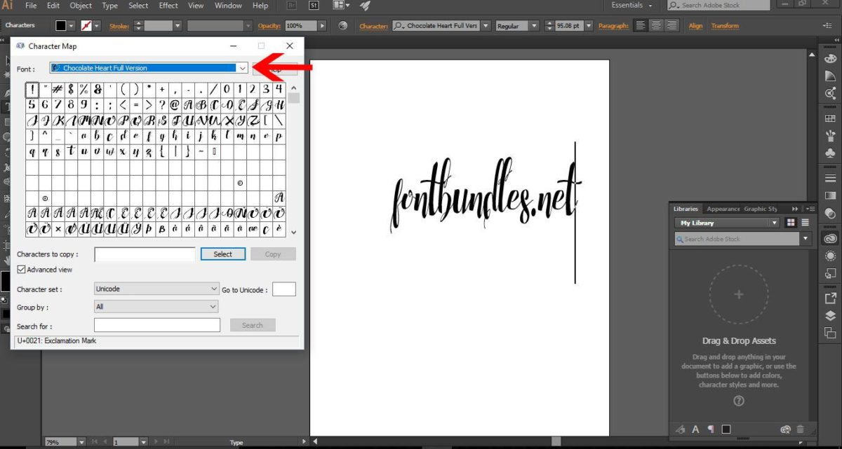 how to use glyphs in adobe illustrator