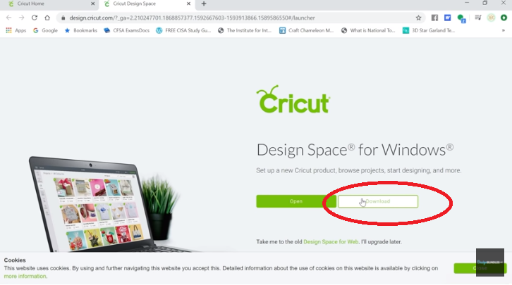 how to download Cricut design space