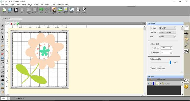 Viewing an image in the design space using SCAL4