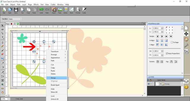 Grouping image parts using SCAL4
