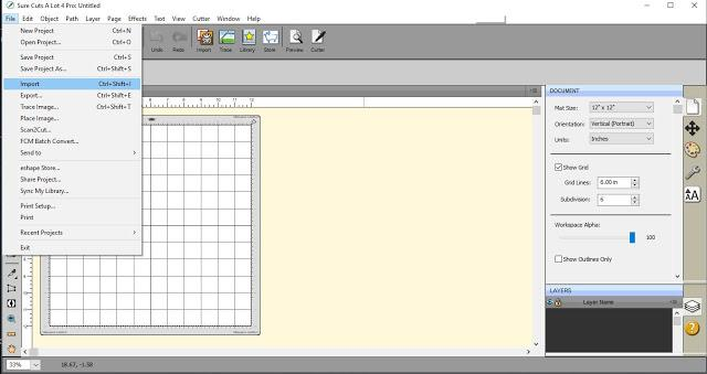 Importing an image file using SCAL4