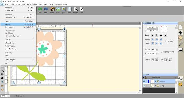 Exporting Image ready to save as an SVG using SCAL4