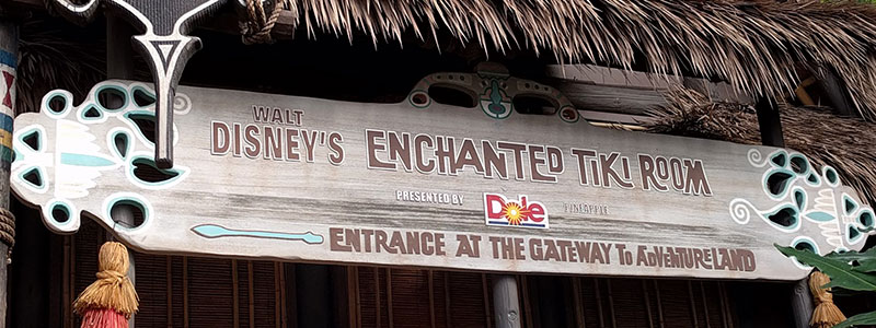 Type of Disneyland: Tiki Room