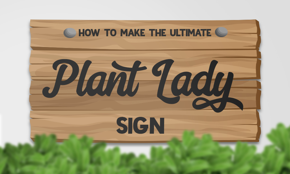 Learn How to Make the Ultimate Plant Lady Sign