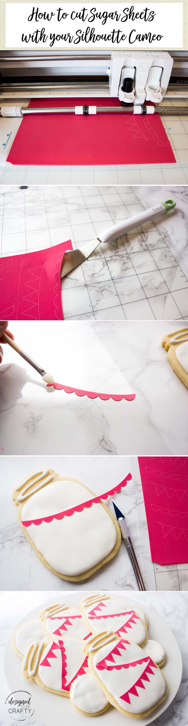 A complete tutorial on how to easily create professional looking treats using sugar sheets and your Silhouette.