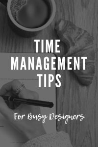 Tips for Busy Designers on how to manage time