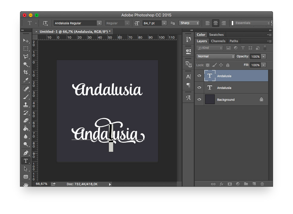 pasting glyph into photoshop