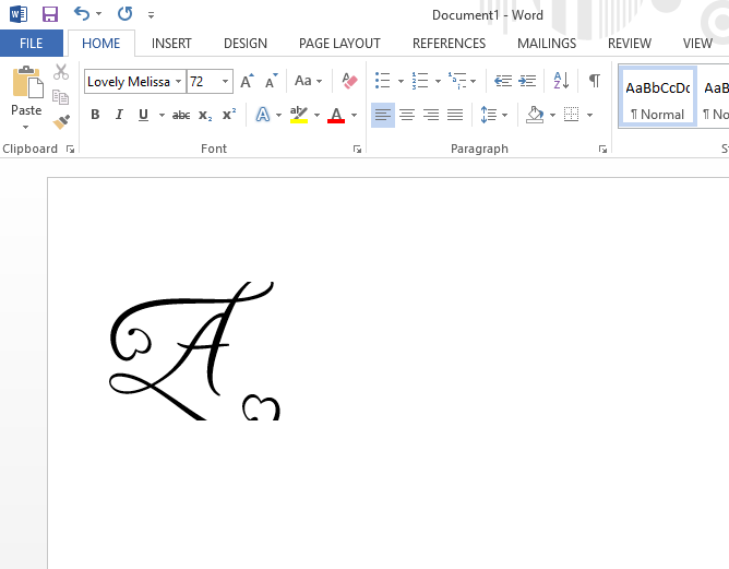 font cut off in microsoft word