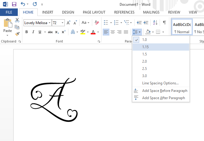 font clipped in microsoft word