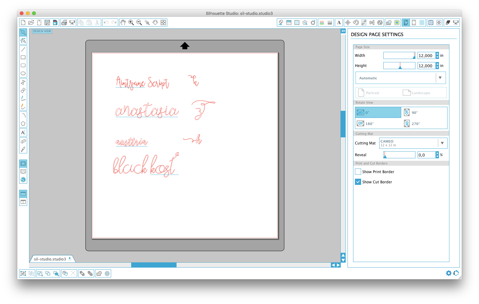 fonts now work in silhouette