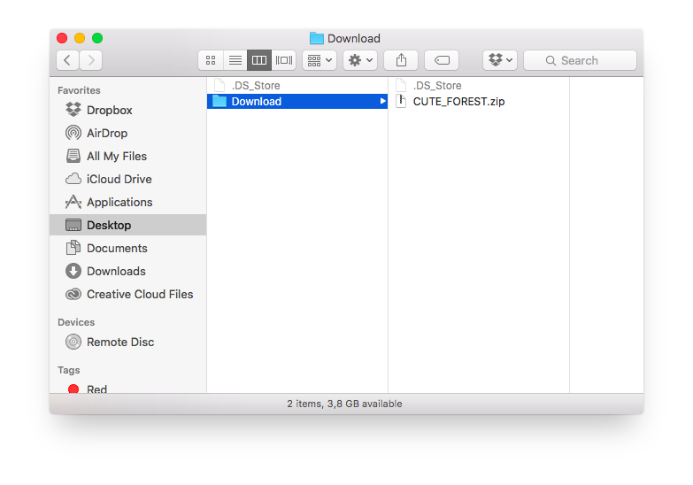 how to download zip file on mac