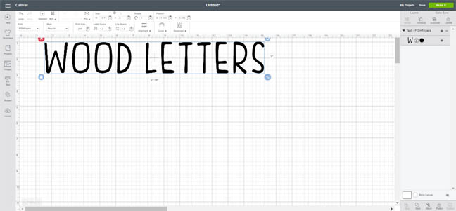 Make Wood Letterboard Letters with the Cricut Maker | The